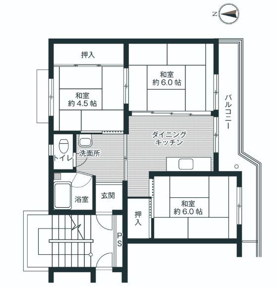 賃貸物件:山形市大字中桜田(3DK)